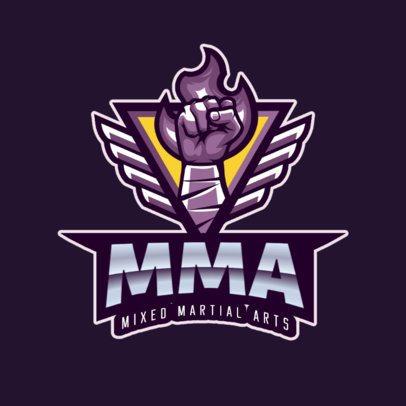 Mixed Martial Arts Logo Template 2852