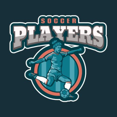 Soccer Team Logo Maker Featuring a Female Player 2622b