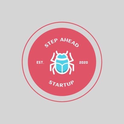 Startup Logo Maker with a Minimalistic Beetle Icon 274a-el1