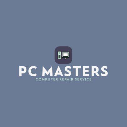 Logo Template for a Computer Repair Service Business 389-el1