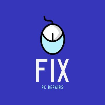 Computer Repair Business Logo Design Maker 389a-el1