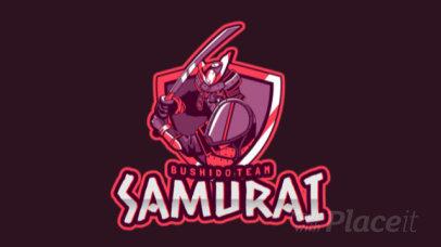 Animated Samurai Gaming Logo Maker 1750b