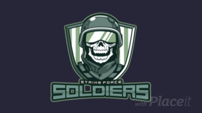 Animated eSports Logo Design Template with Soldier Graphics 1750c