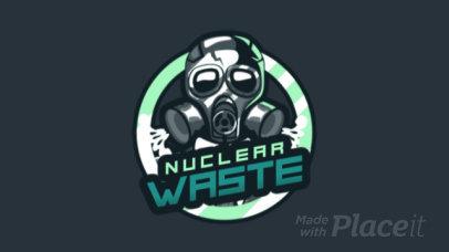 Animated Gaming Logo Generator with a Toxic Mask Illustration 1747i