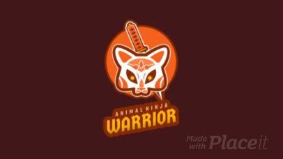 Animated Gaming Logo Creator with an Animal Ninja Warrior 1747l 2315