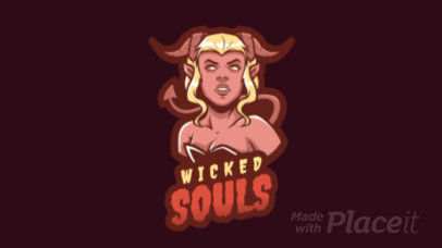 Animated Gaming Logo Maker Featuring a Succubus 1747v--2360