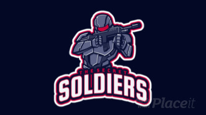 Animated Gaming Logo Maker for a Fighting Soldiers Genre Game 1746f
