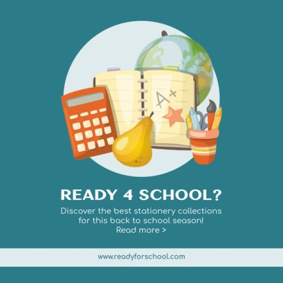 Facebook Post Maker for a Back to School Article with Stationery Graphics 211a-el1
