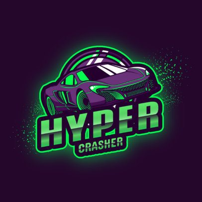 Rocket League-Inspired Logo Generator with a Speed Car 2851a