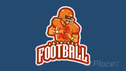 Animated Sports Logo Maker with a Strong Football Player Icon 29k-2862