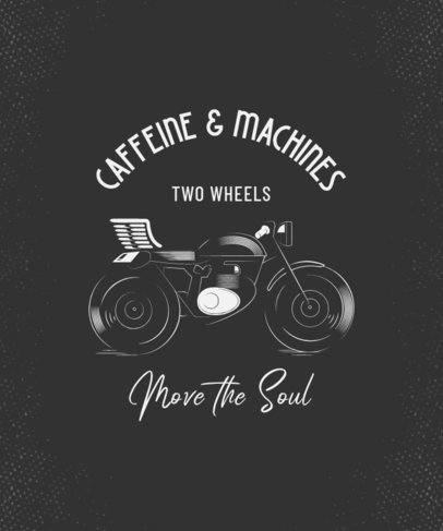 Illustrated T-Shirt Design Generator Featuring a Cool Motorcycle Clipart 2134h
