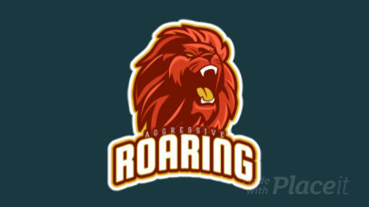 Animated Gaming Logo Template Featuring a Roaring Lion Clipart 21r-2858