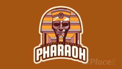 Animated Sports Logo Generator Featuring a Pharaoh Illustration 523n-2858
