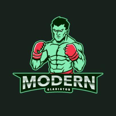 Online Logo Generator Featuring Mixed Martial Arts Graphics 2850g