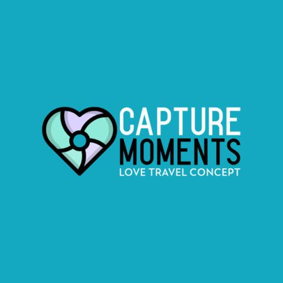 Romantic Travel Company Logo Maker with a Heart Icon 562a-el1