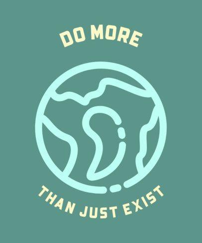 T-Shirt Design Maker with a Planet Graphic 559b-el1