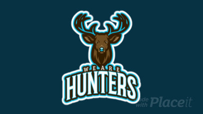 Animated Sports Logo Template Featuring an Illustrated Deer 21w-2857b