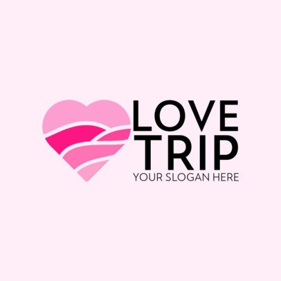 Logo Creator for Couples Vacation with a Heart Graphic 562b-el1