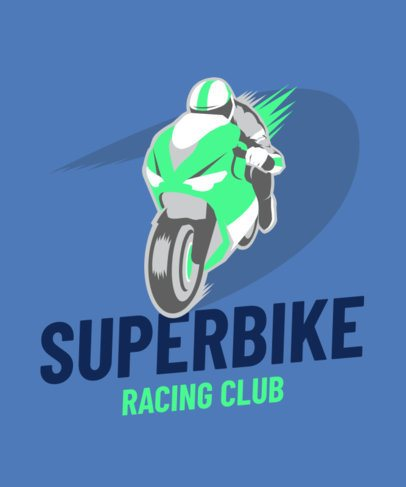 T-Shirt Design Template for a Bikers Racing Club 2133a