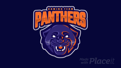 Animated Gaming Logo Maker Featuring Panther with an Open Mouth 1869h - 2339