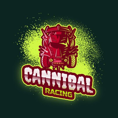 Gaming Logo Maker with a Rocket League Style and a Racing Car Clipart 2851h