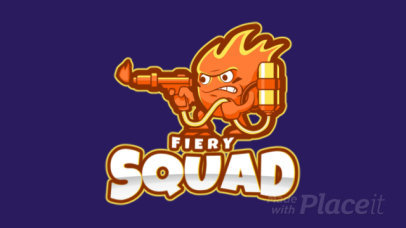 Animated Logo Maker with a Fire Character for a Gaming Squad 1750z-2859