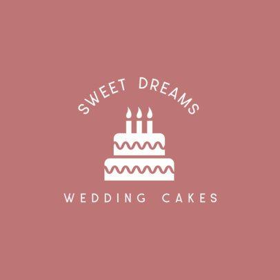 Online Logo Creator Featuring a Wedding Cake 598b-el1