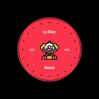 Party Organizer Logo Generator for Clown Entertainers 610a-el1