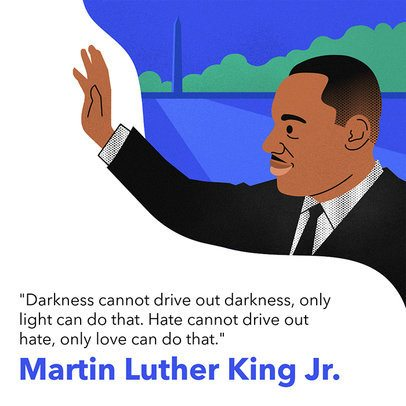 MLK Day Instagram Post Template 2139