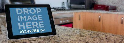 Black iPad Landscape Kitchen