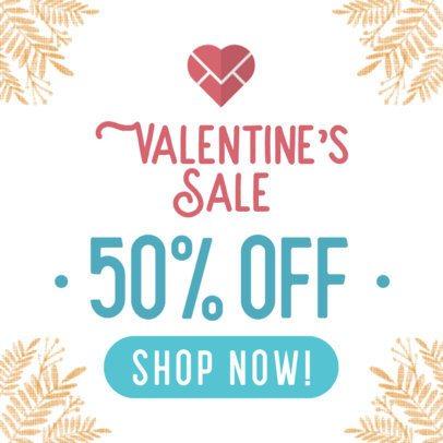 Online Banner Maker for Valentine's Day Sale 611-el1