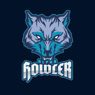 Sports Logo Maker Featuring a Fierce Wolf's Face 2680q-2883