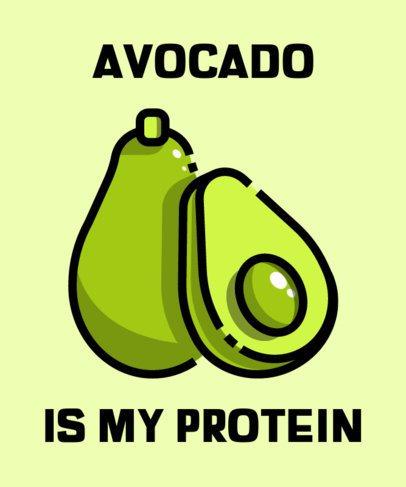 T-Shirt Design Creator with an Avocado Icon 606a-el1