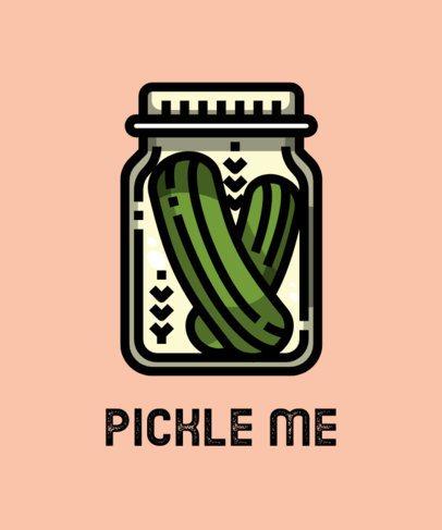 T-Shirt Design Maker with a Clipart of Pickles 606b-el1