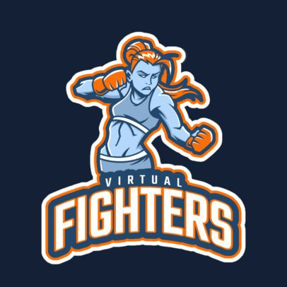 Gaming Logo Maker for an eSports Team with a Female Boxer 29s-2880