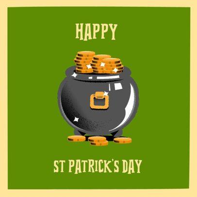 Instagram Post Design Template to Celebrate Saint Patrick's Day 2178