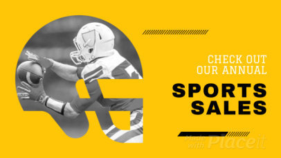 YouTube Ad Maker for a Sports Sale with Football Graphics 2018