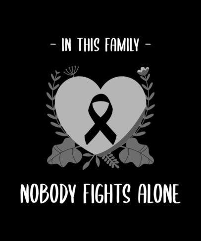 T-Shirt Design Creator Featuring a Ribbon for Cancer Awareness 2166b