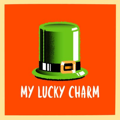 Saint Patrick's Day Instagram Post Generator with a Hat Illustration 2178c
