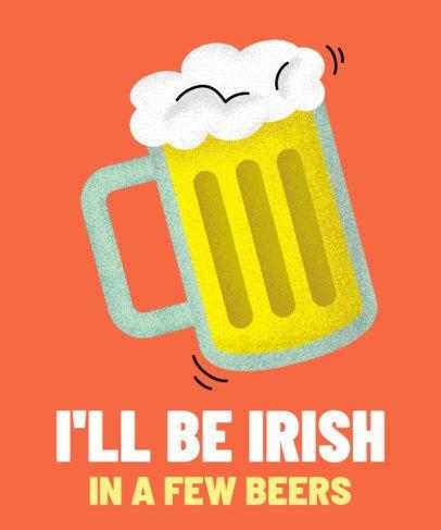 Tipsy T-Shirt Design Creator for Saint Patrick's Day 2167b
