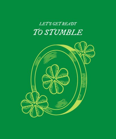 T-Shirt Design Maker Featuring a Lucky St Patricks Day Coin 2168d