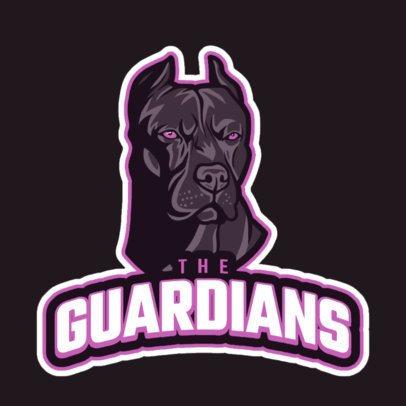 Sports Logo Template Featuring an Aggressive Guardian Dog 21hh-2892b