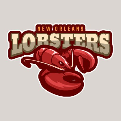 Mascot Logo Maker for a Sports Team Featuring a Lobster Clipart 120aa-2883