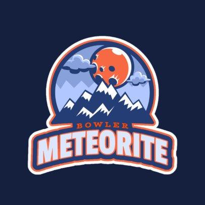 Sports Logo Maker Featuring a Meteorite Illustration 523dd-2883