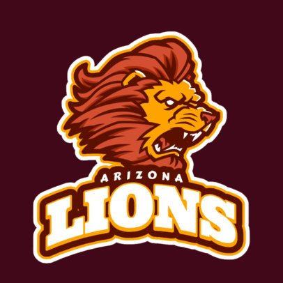 Mascot Logo Maker for a Sports Team Featuring an Aggressive Lion Illustration 21dd-2889