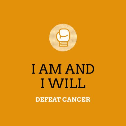 Instagram Post Maker with an Ecourgaging Quote About Fight Against Cancer 2170a