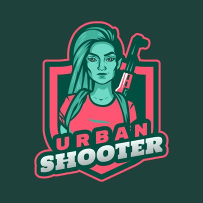 Gaming Logo Maker with a Free Fire-Inspired Female Character 2637t-2890