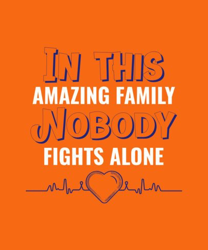 World Cancer Day-Commemorative T-Shirt Design Template with a Loving Quote 2165e