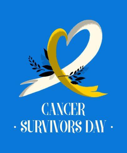 T-Shirt Design Template for Cancer Survivors Day 2164c