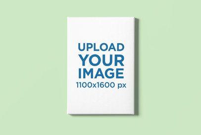 Canvas Mockup Featuring a Plain Customizable Background 2514-el1